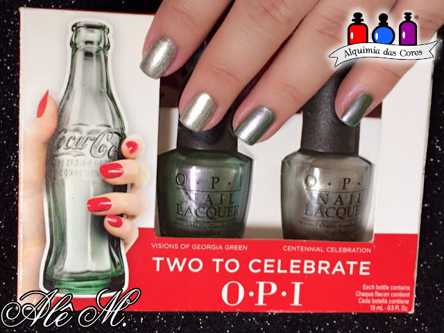 O.P.I. , Coca-Cola Two To Celebrate, Cereja Nails, Películas, Centennial Celebration, Visions of Georgia Green, Don't Bossa Nova Me Around, Brazil Collection, Green, Silver, Nude, 100º aniversário Coca-Cola, Coca-Cola Collection OPI, DRK Nails, Alê M.