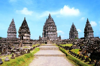 Gambar Candi Prambanan - Tampak Depan