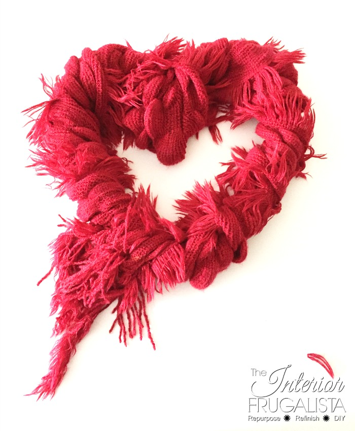 Scarf Wrapped Valentine's Wreath