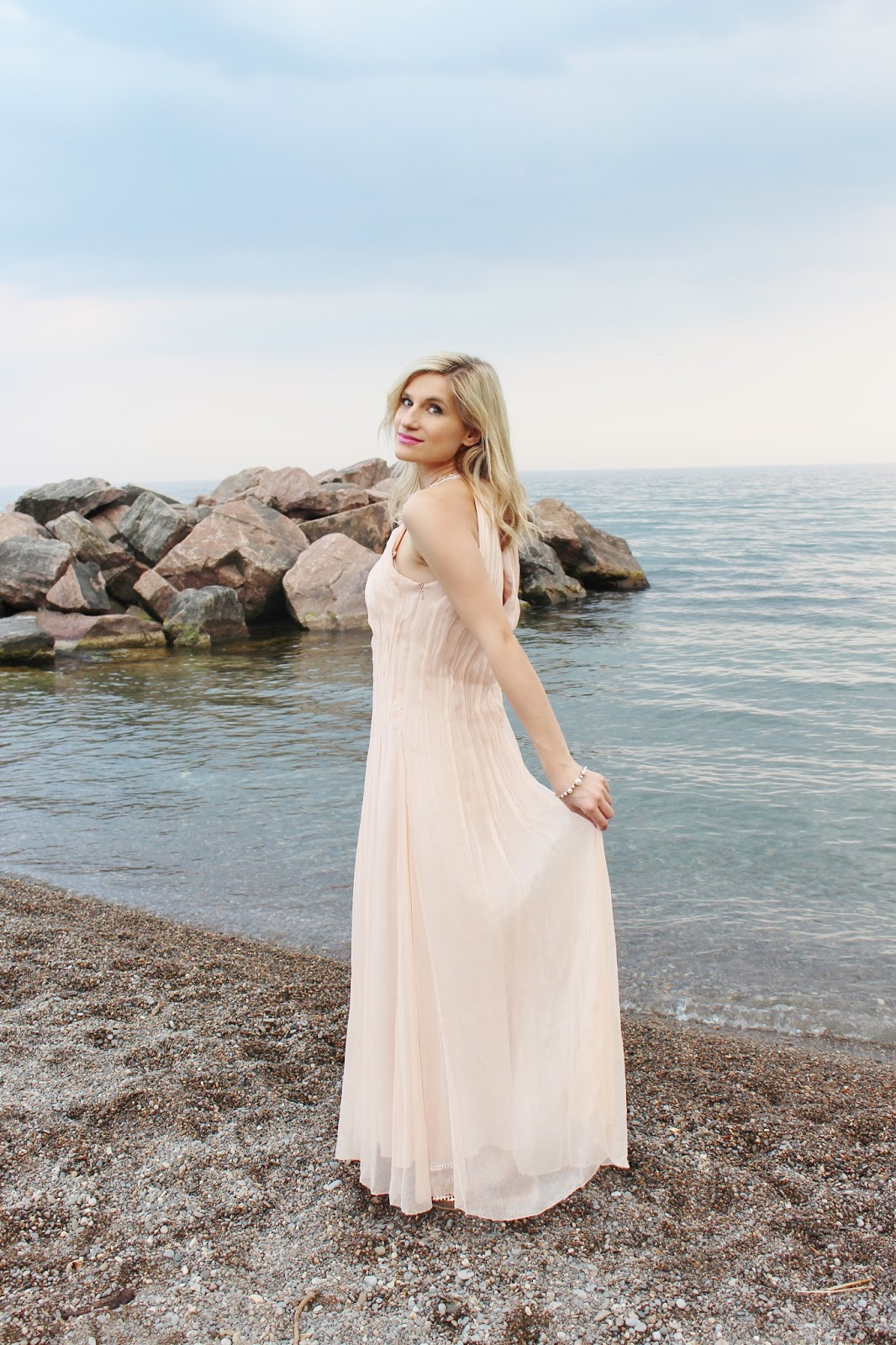 bijuleni-Marc Cain blush chiffon dress