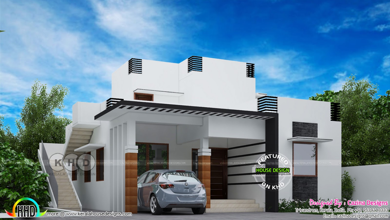 1200 sq-ft small double storied house plan | Kerala home