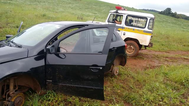 Veículo roubado em Ortigueira é encontrado em Mauá da Serra