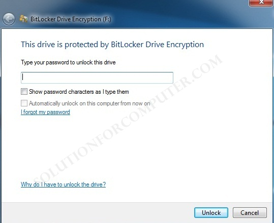 How to set password on pendrive without software