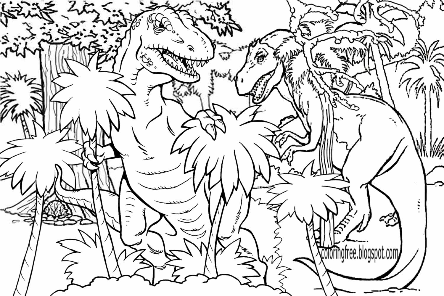 LETS COLORING BOOK: Prehistoric Jurassic World Dinosaurs ...