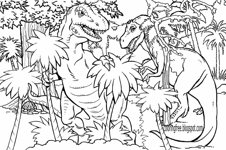 ausmalbilder dinosaurier jurassic world
