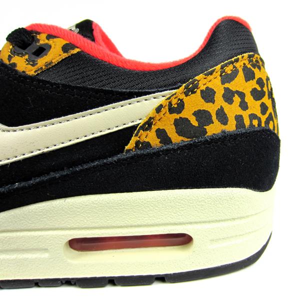 online store 31786 bce25 Nike Women s Air Max 1. (Leopard) Black Sandtrap Dark Gold Leaf Sunburst.  319986-026