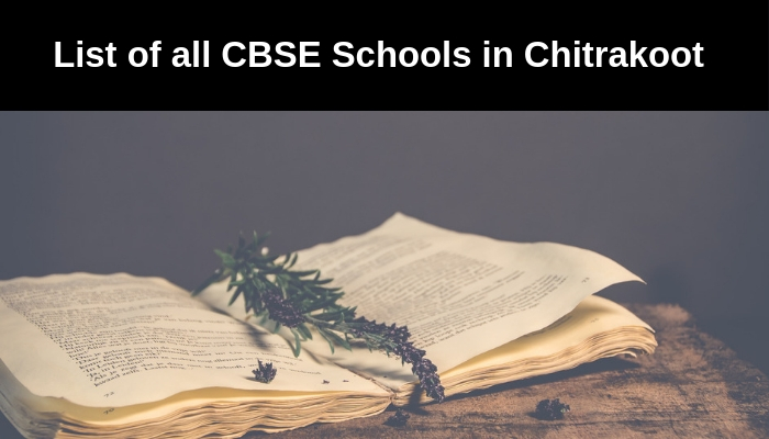 List of all CBSE Schools in Chitrakoot