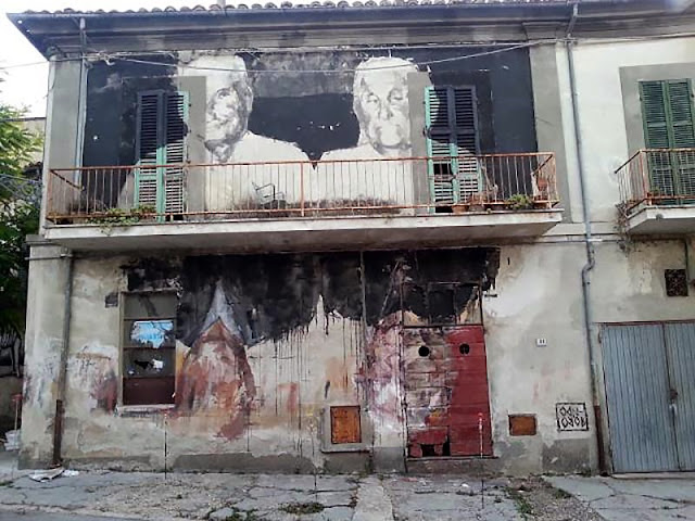 Spanish Street Artist Borondo Newest Mural For Visione Periferica Urban Art  Event In Italy. 3