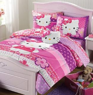 Gambar Sprei Motif Hello Kitty yang Lucu 4