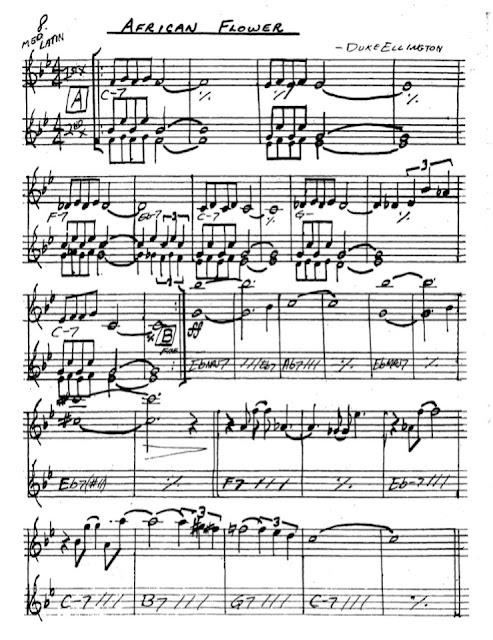 Partitura Saxofón Duke Ellington