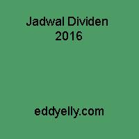 Jadwal Dividen 2016
