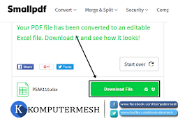 Cara Merubah (Convert) File PDF ke Excel tanpa software Gratis