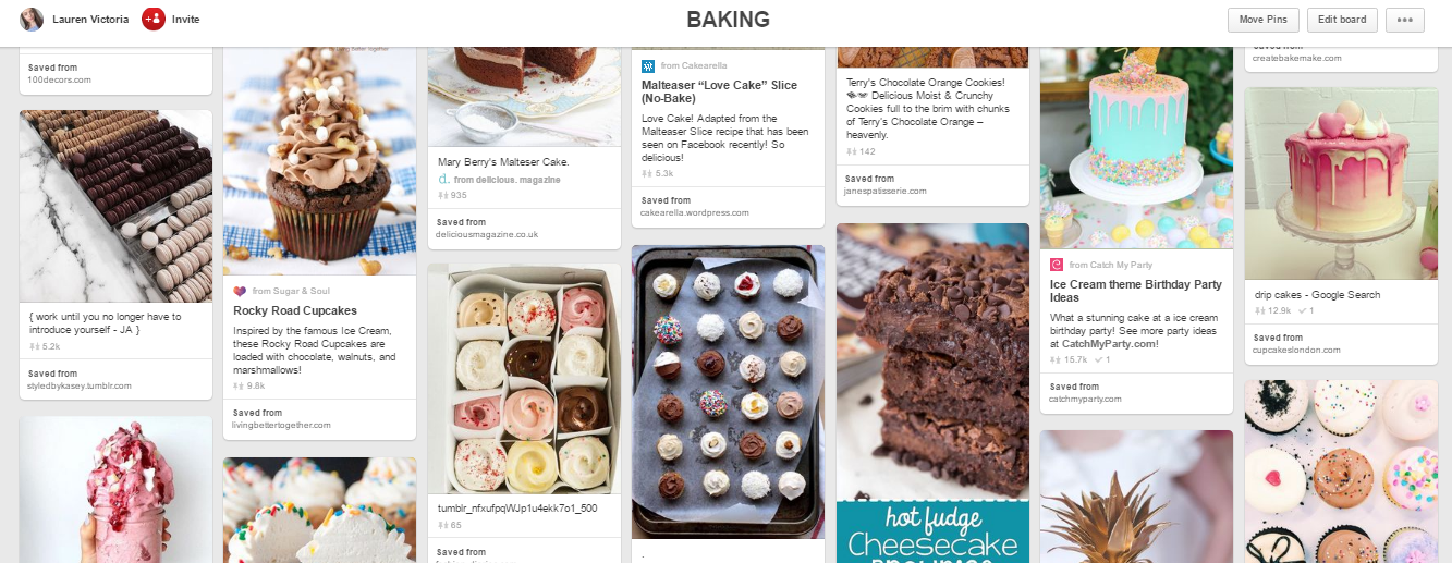 Pinterest Baking Board