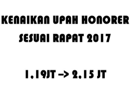 Daftar Kenaikan Gaji Honorer dan PTT Sesuai Kabupaten Kota Hasil Rapat 2017
