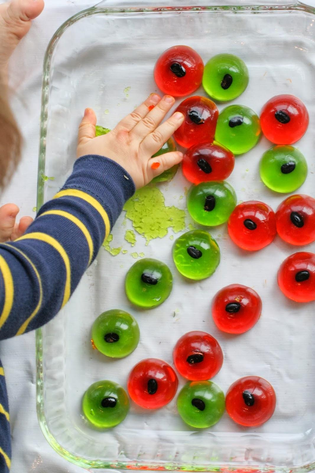 Halloween Sensory Bin For Baby And Toddlers Edible Eyeballs
