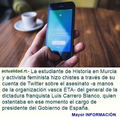 Un año de prisión para tuitera por hacer chistes sobre un presidente del Gobierno de Franco (VIDEO)
