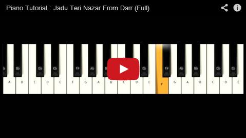 Hindi Songs Video Notations Ajnshs Piano Notes