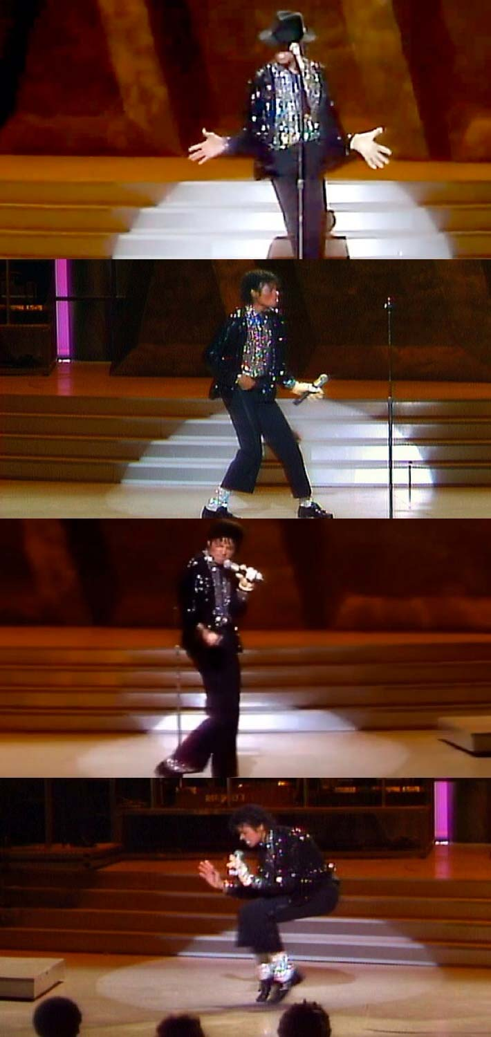 "Michael Jackson interpretando ""Billie Jean"", en el ""Motown 25: Yesterday, Today, Forever"""