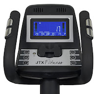 TX Tri-Fit's tilt console with blue display, Bluetooth, speakers & MP3 input, image