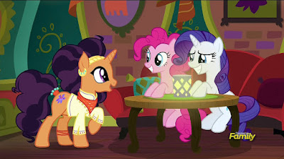 Saffron Masala meets Pinkie and Rarity