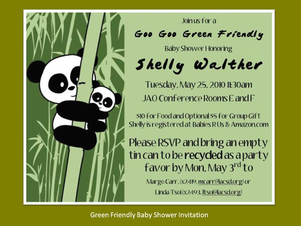 D2d Green Friendly Baby Shower June 2010