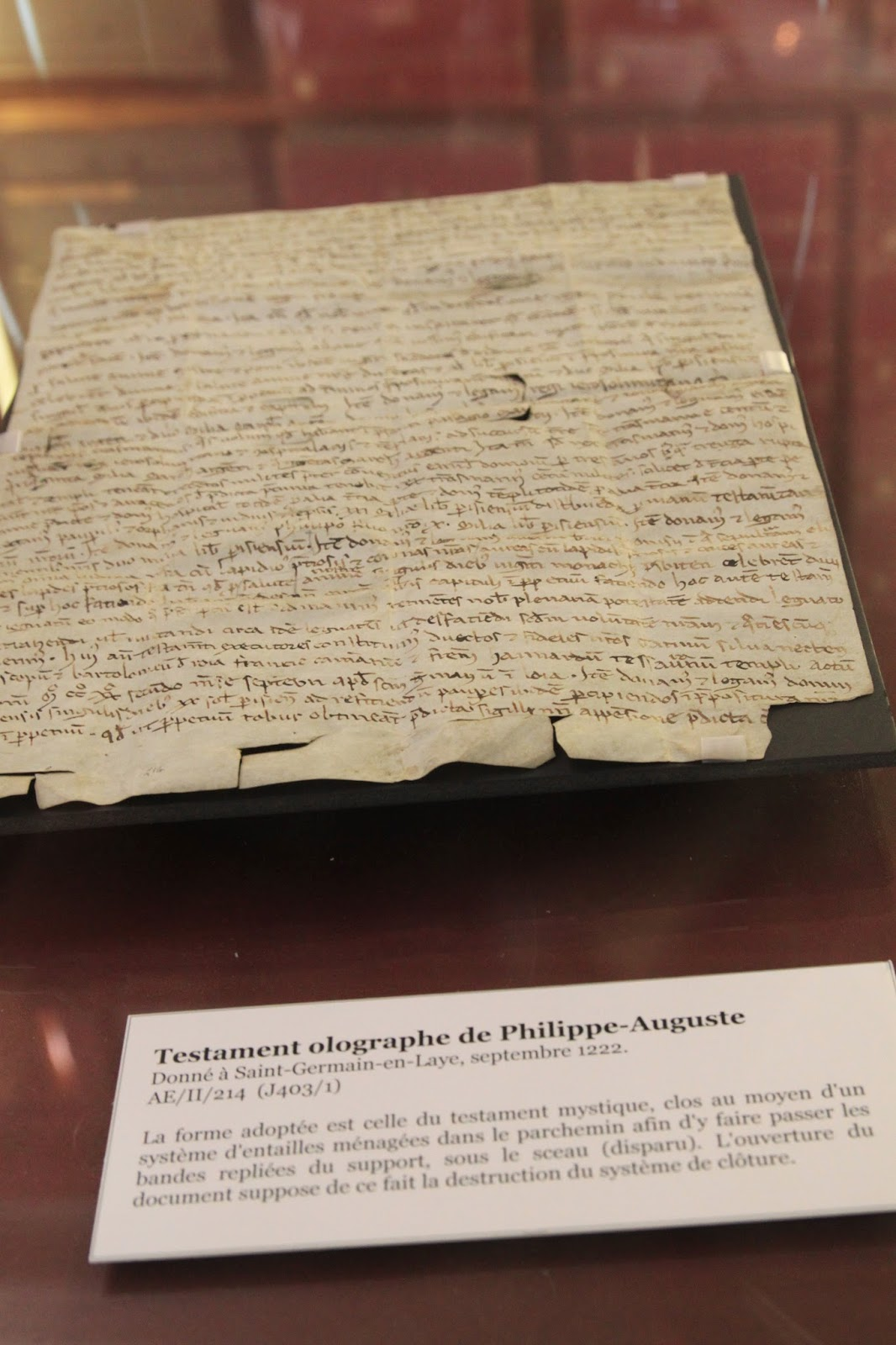 modele testament manuscrit
