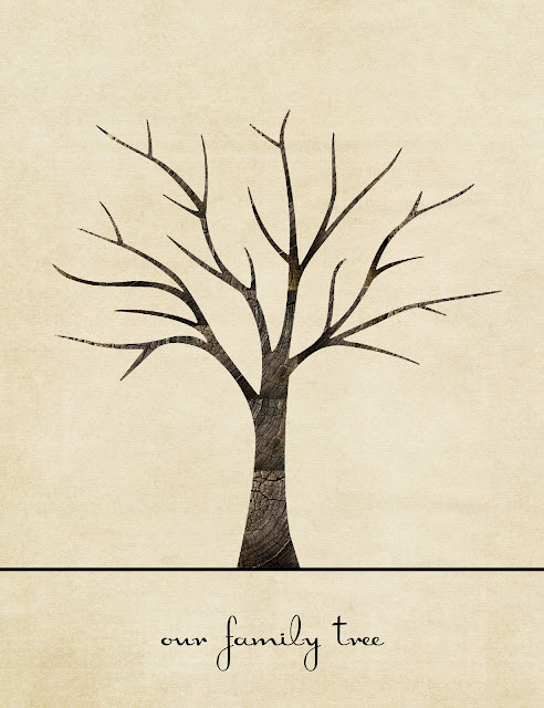 Family Tree Template: Family Tree Thumbprint Template