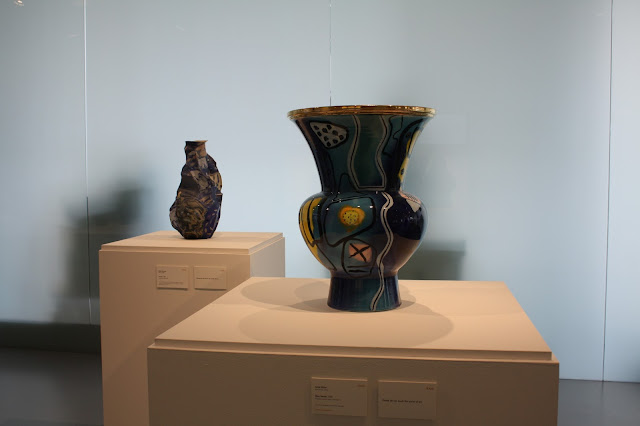 Soothing blue vase at the Racine Art Museum