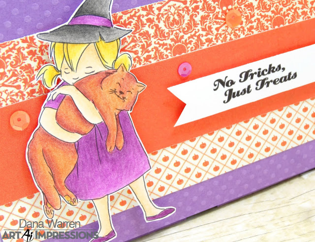 Dana Warren - Kraft Paper Stamps - Art Impressions - Halloween Magic Treat Box - No Glue Foldable Box