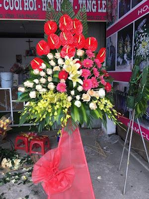 Hoa chuc mung khai truong cua hang