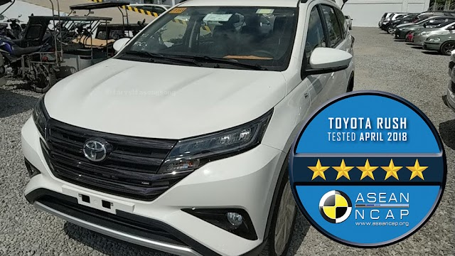 Toyota RUSH : 5 Star Safety Rating from ASEAN NCAP