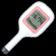 基礎体温計のイラスト
