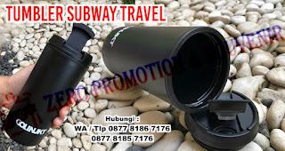 Souvenir tumbler Subway Travel Tumbler, Botol Minum Chielo, Botol minum Souvenir, SUBWAY TRAVEL TUMBLER 350ML, Jual TUMBLER PROMOSI, Chielo Drinkware