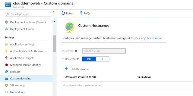 Custom Hostnames blade