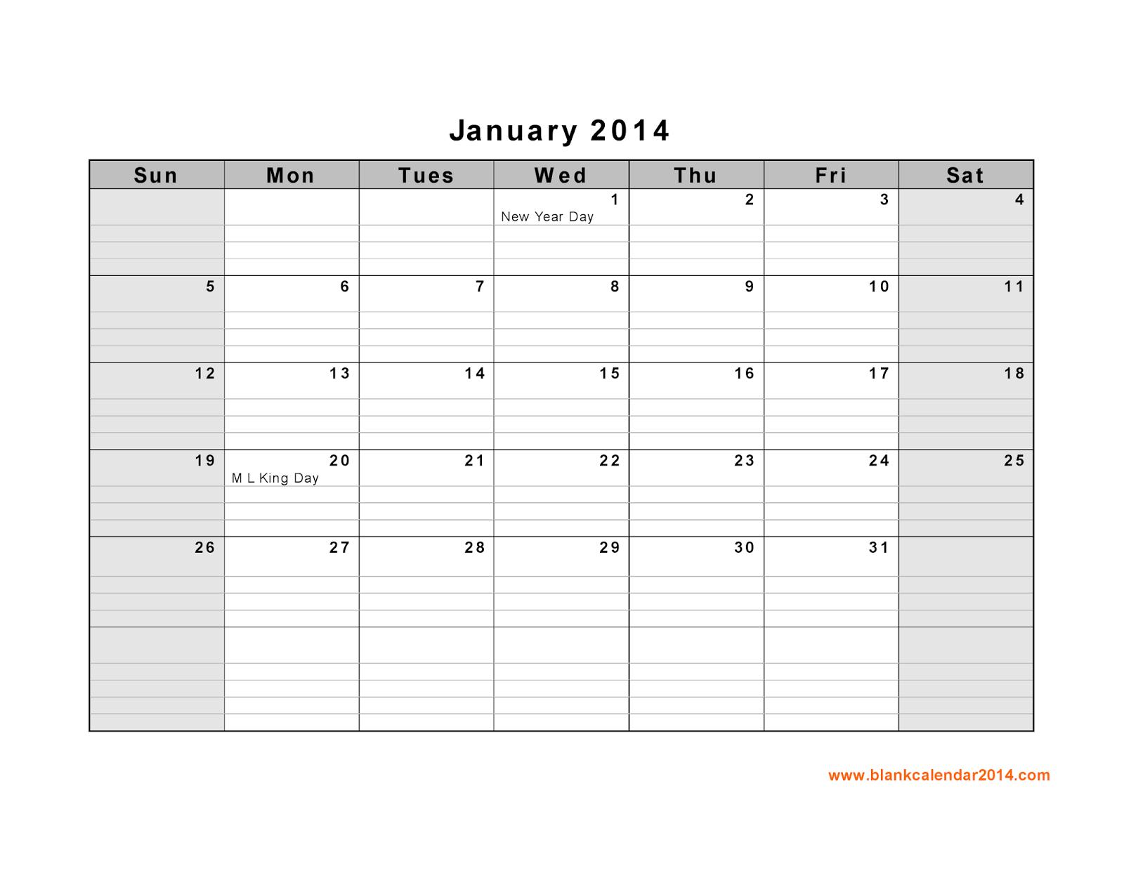 January Calendar Printable 9 Printable Calendar