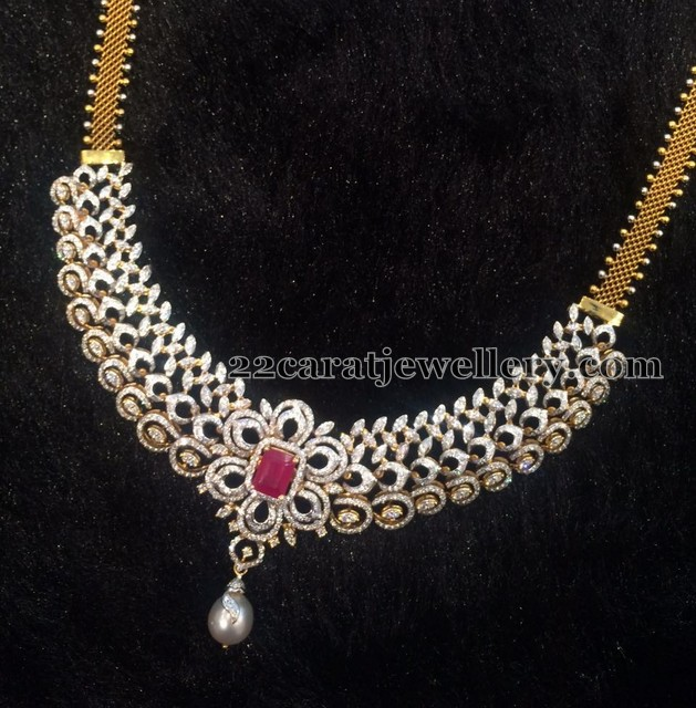 Diamond Set by Sri Mahalaxmi Jewellers