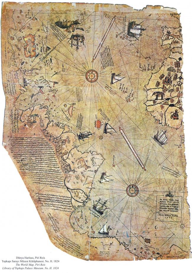 Мистериозна карта на света, създадена през 1513 г