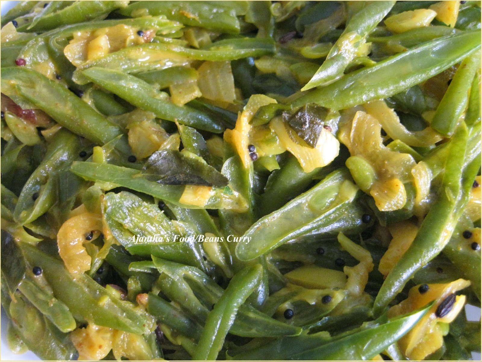 Ajantha's Food/ srilankan style Green Beans Curry
