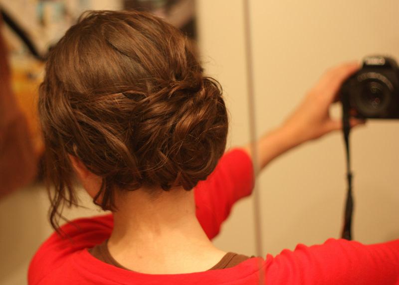 The SoHo: Bridesmaid Hair: Messy Side Bun