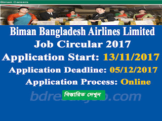 Biman Bangladesh Airlines Limited Assistant System Administrator job circular 2017