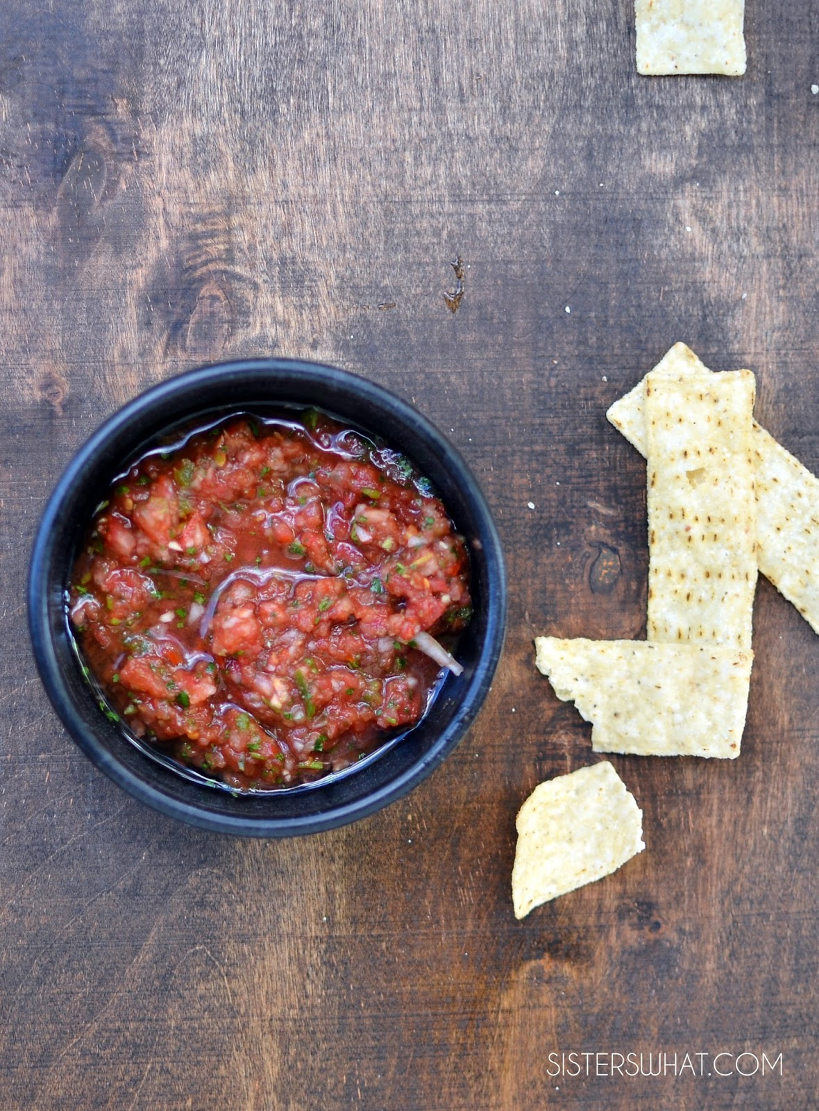 5 seconds 5 ingredient restaurant style salsa