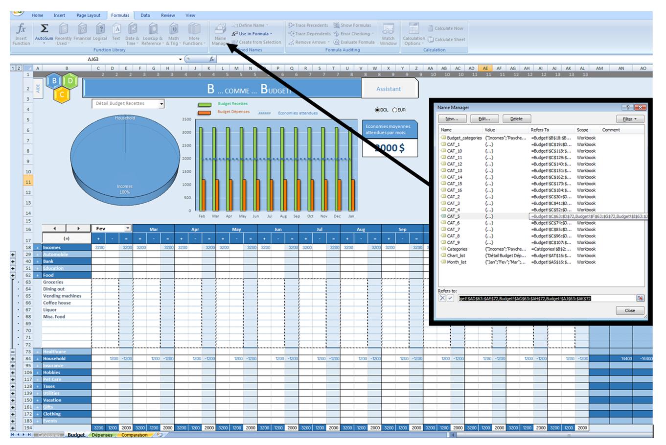 Excel Vba Set Range Name Manager