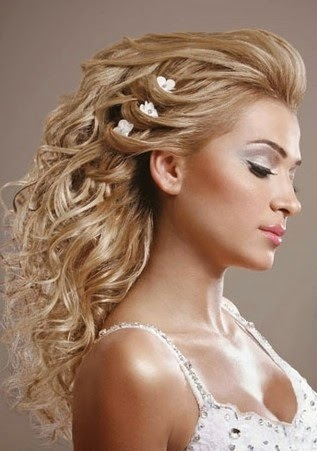 latest women hair styles half up wedding hairstyles
