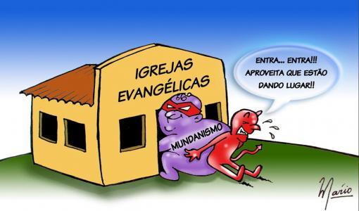 Resultado de imagem para mundanismo na igreja