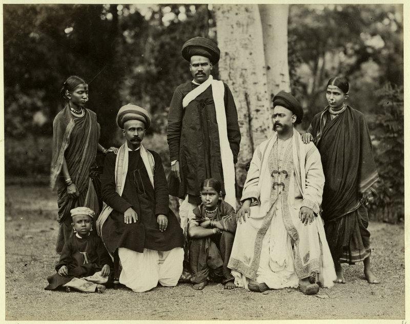 A Brahmin Family Photograph- Probably from Maharastra 1880's