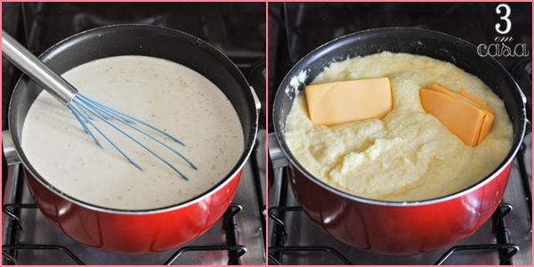 como fazer polenta com queijo