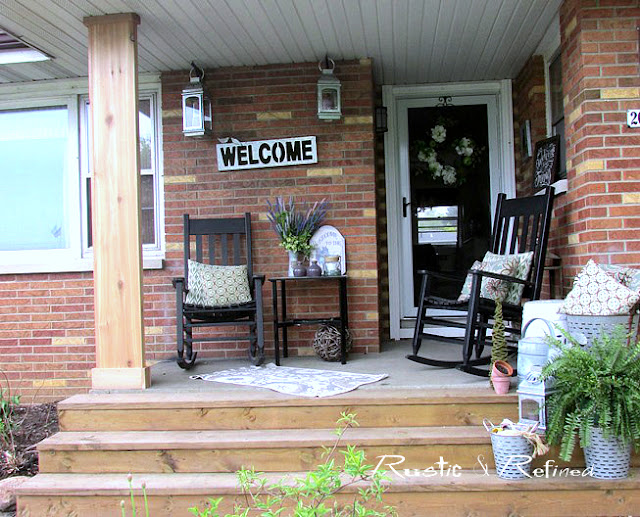 Rustic DIY porch project