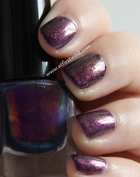 Max Factor Max Effect mini nail polish 45 - Fantasy Fire used as top coat