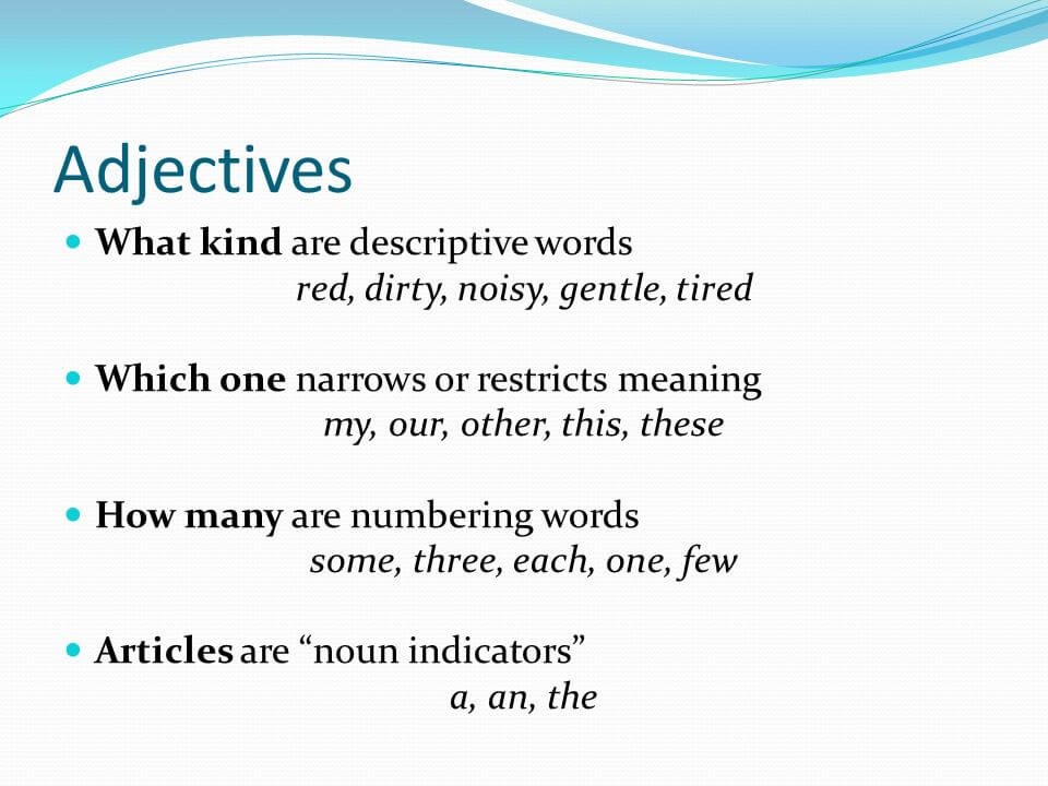 What is Adjective? | Clear Education Dews