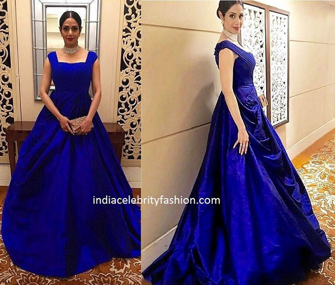 Sridevi Kapoor in Manish Malhotra Gown